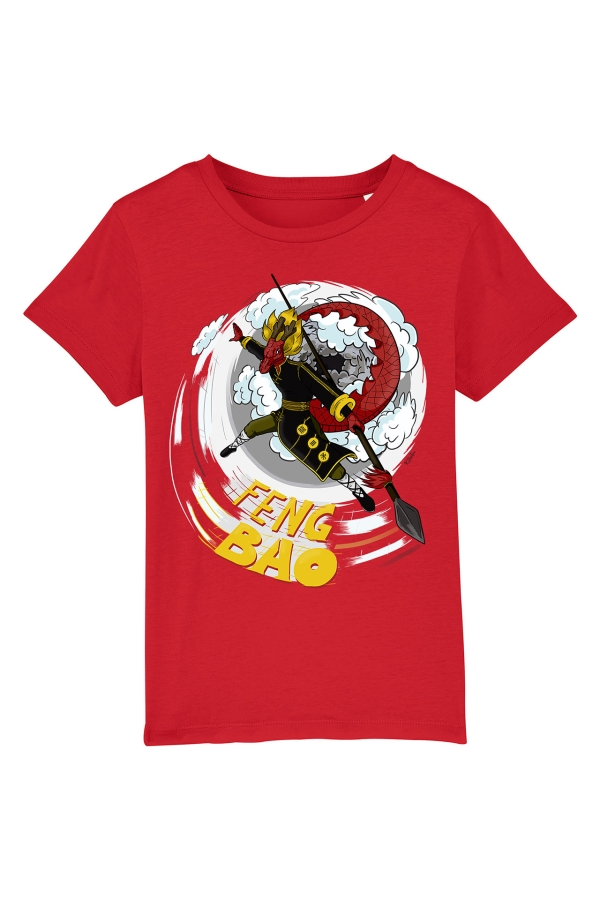 fengbao kung fu kids shirt long der drache rot