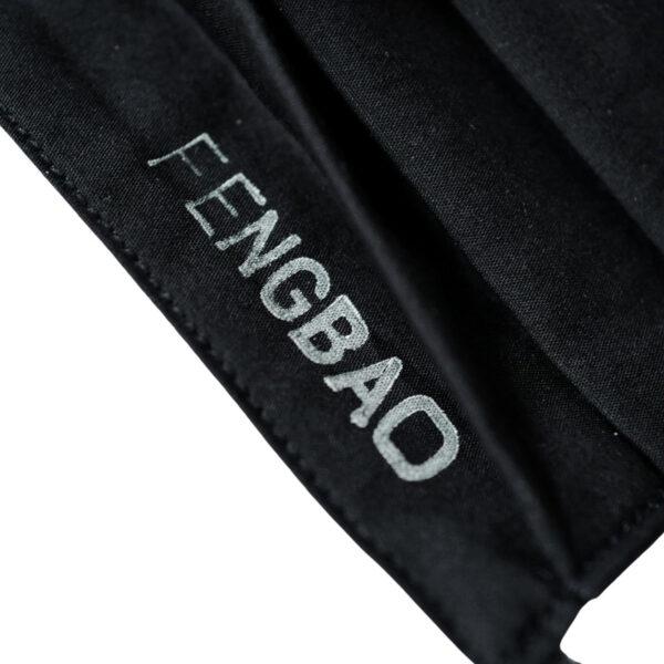 fengbao kung fu masken mund nasen schutz ms vintage black handmade logo wien makro