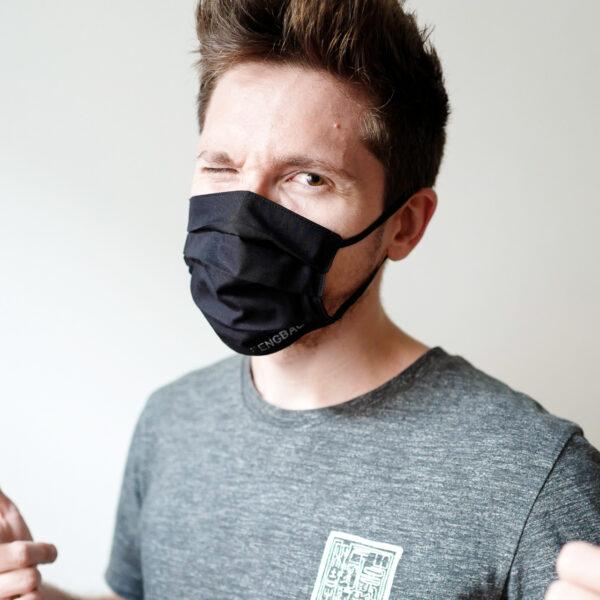 fengbao kung fu masken mund nasen schutz ms vintage black handmade logo wien max wessely
