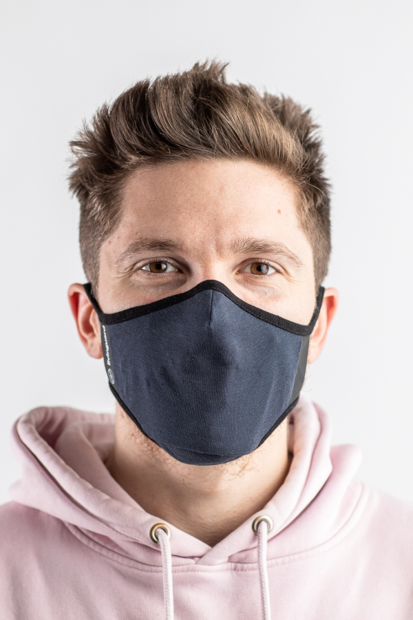fengbao livinguard wingguard sport maske mund nasen schutz navy front squashed