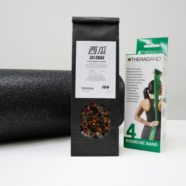 theraband blackroll sai gwaa pfefferminze tee paket recovery training fitness band fengbao kung fu shop 1080 wien quadrat